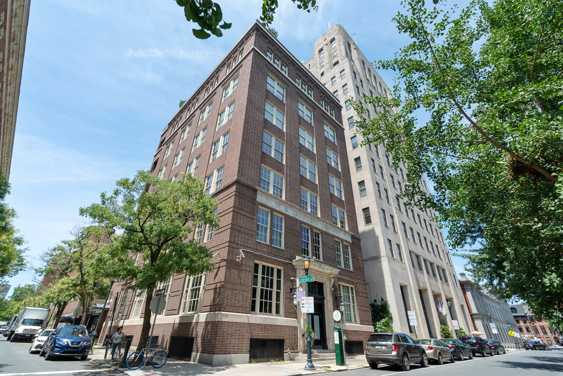 Luxury boutique condominium building on Washington Square features one unit per floor