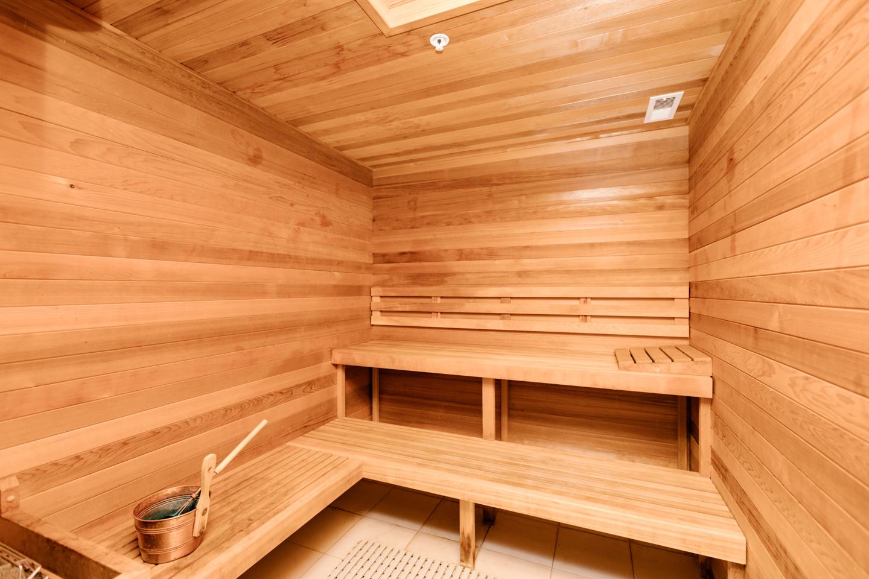 sauna at a luxury condo building Philadelphia