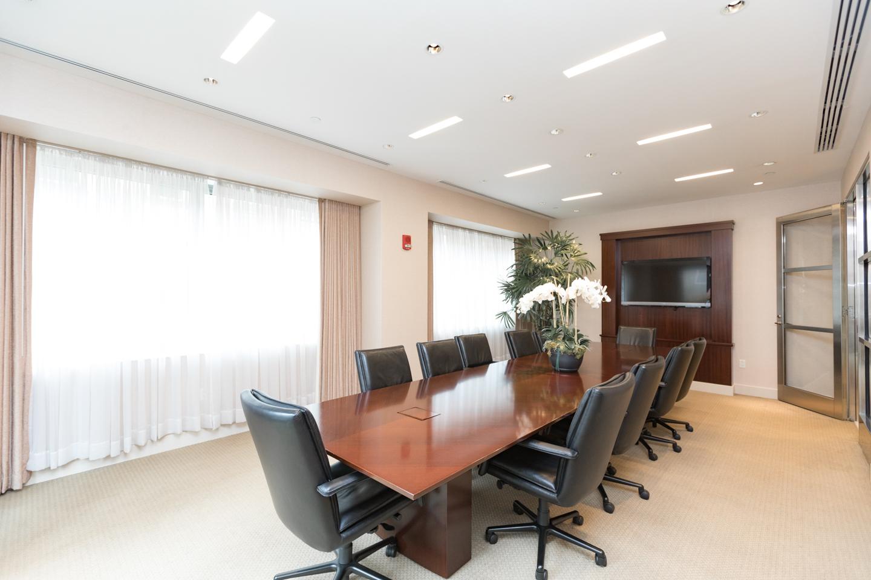 conference room in a luxury condo building in Philadelphia