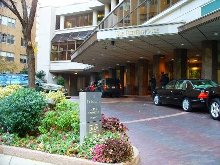Entryway of The Rittenhouse luxury condo building in Center City Philadelphia