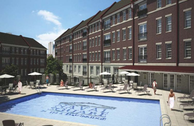 Naval Square luxury condos in Graduate Hospital, a secure gated condo community