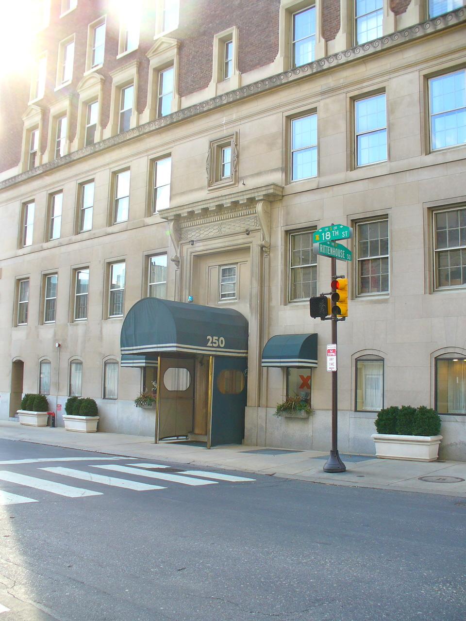 250 S. 17th Street Rittenhouse Square boutique, luxury condo building