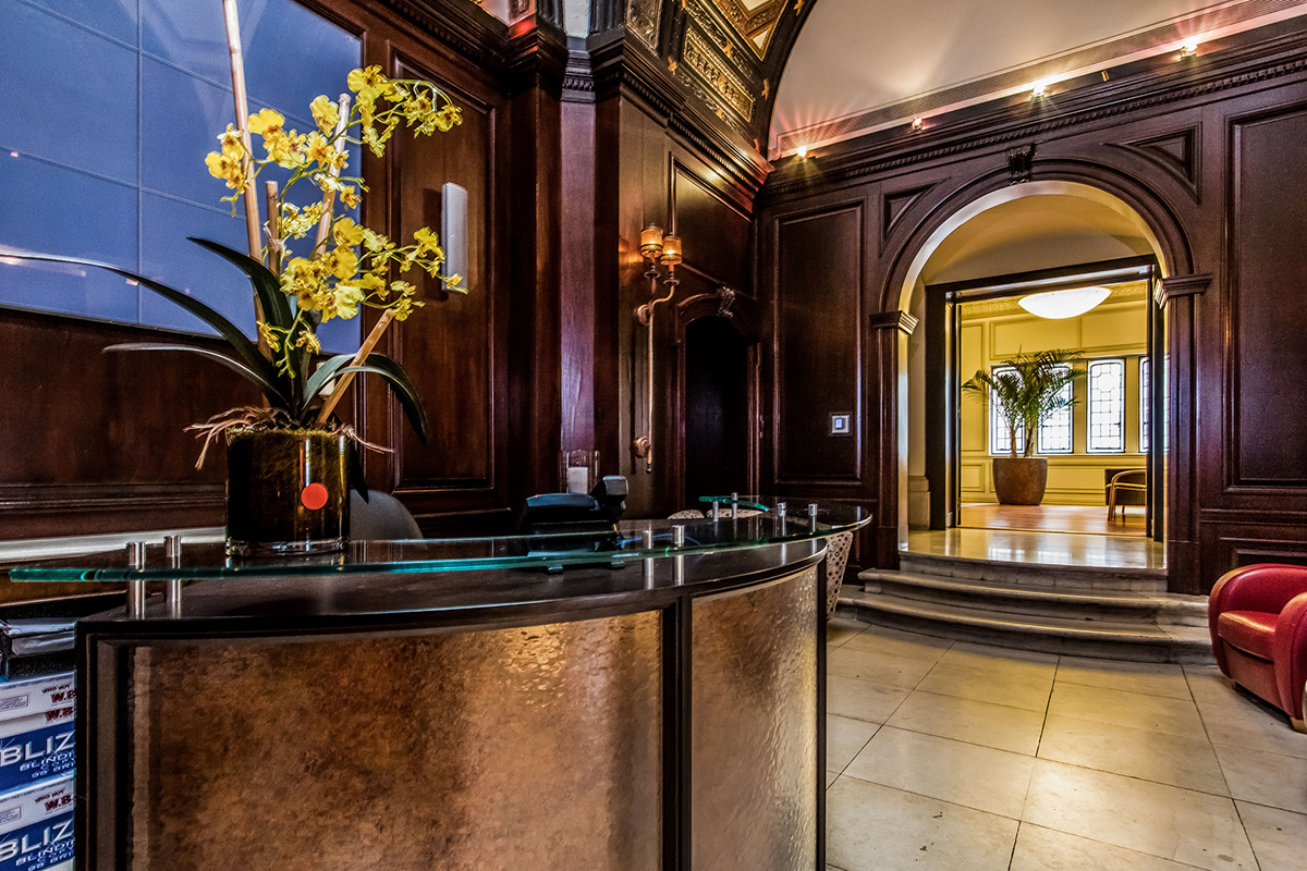 Lobby of the luxury condo building 250 South 17th Street