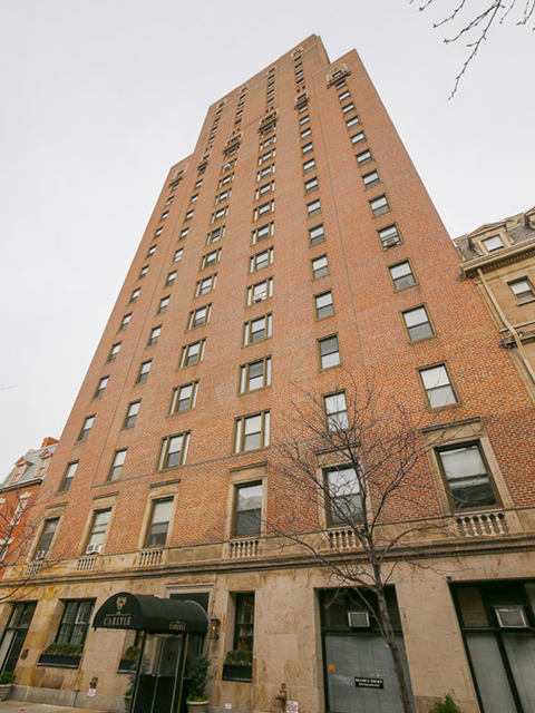 The Carlyle is a luxury condo building located one block from Rittenhouse Square Philadelphia
