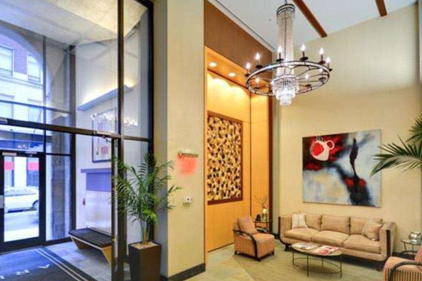 The Aria luxury condo lobby
