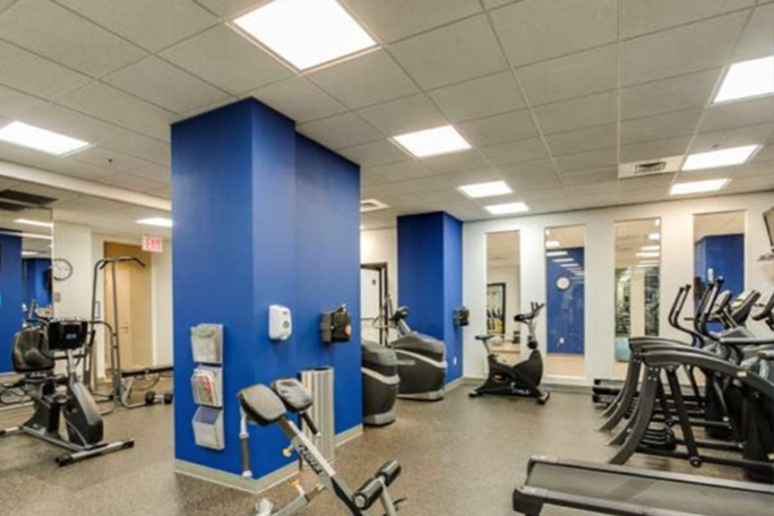 The Aria condos on-site fitness center in