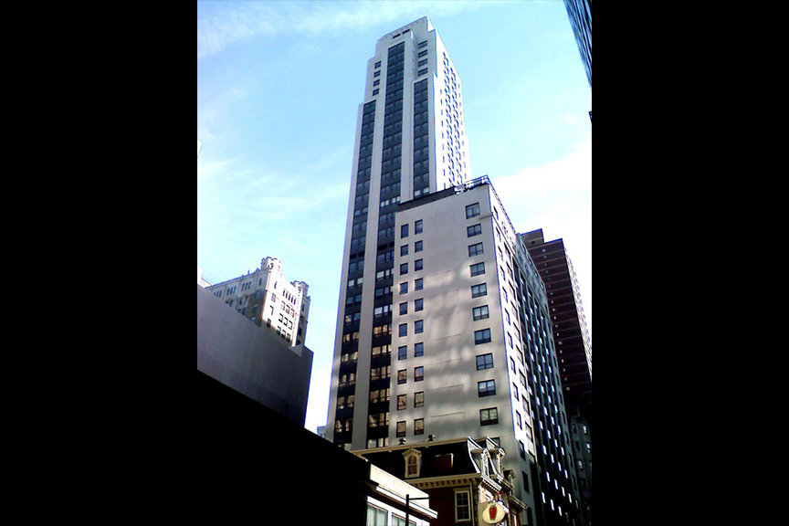 The Aria, a high-rise 33-story luxury condo building located in the heart of Center City.